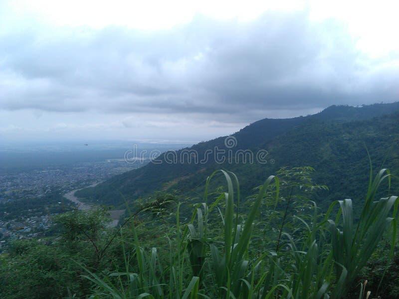 Blick auf Nepal-Hügel lizenzfreies stockfoto