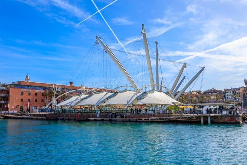 Blick des alten Hafens von Genua, Italien stockbilder