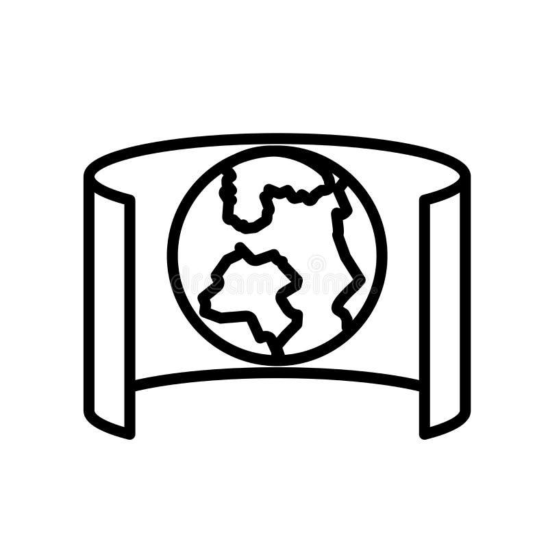 Blickfeldikonenvektor lokalisiert auf weißem Hintergrund, Blickfeldzeichen, Linie oder linearem Zeichen, Elemententwurf in der En stock abbildung