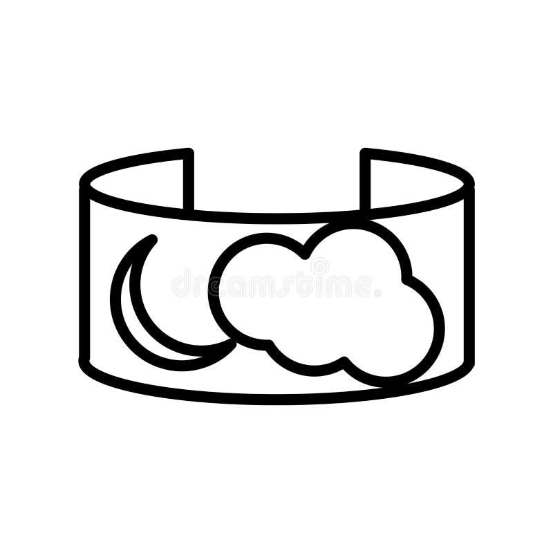 Blickfeldikonenvektor lokalisiert auf weißem Hintergrund, Blickfeldzeichen, Linie oder linearem Zeichen, Elemententwurf in der En lizenzfreie abbildung
