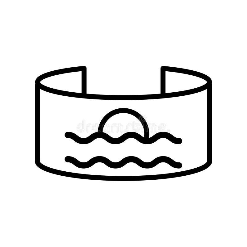 Blickfeldikonenvektor lokalisiert auf weißem Hintergrund, Blickfeldzeichen, Linie oder linearem Zeichen, Elemententwurf in der En vektor abbildung