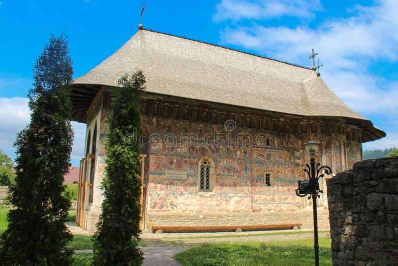 Blidka kloster - den huvudsakliga kyrkan royaltyfria foton