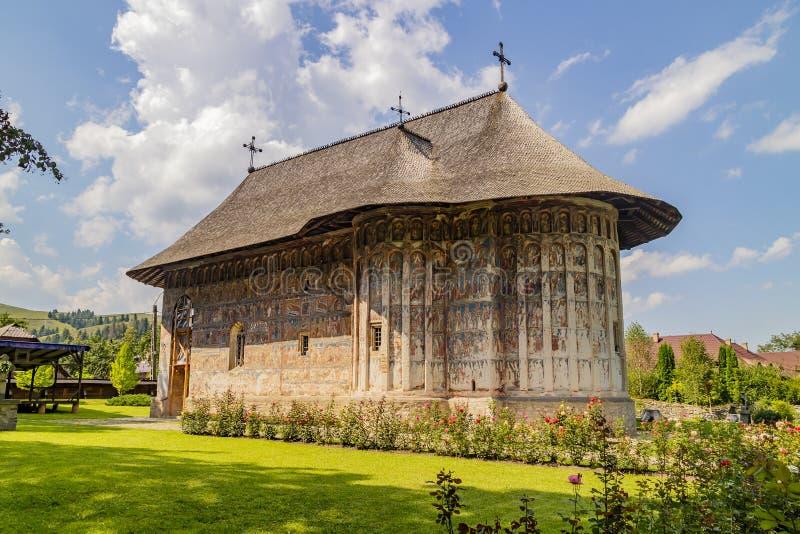 blidka kloster romania fotografering för bildbyråer