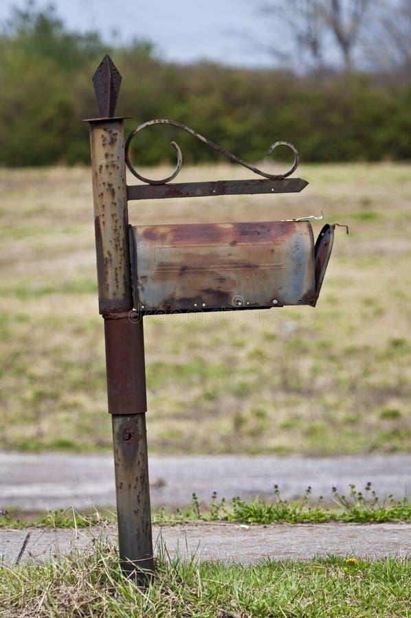 Bliende Föråldrad Brevlåda För Snailpost Fotografering för Bildbyråer