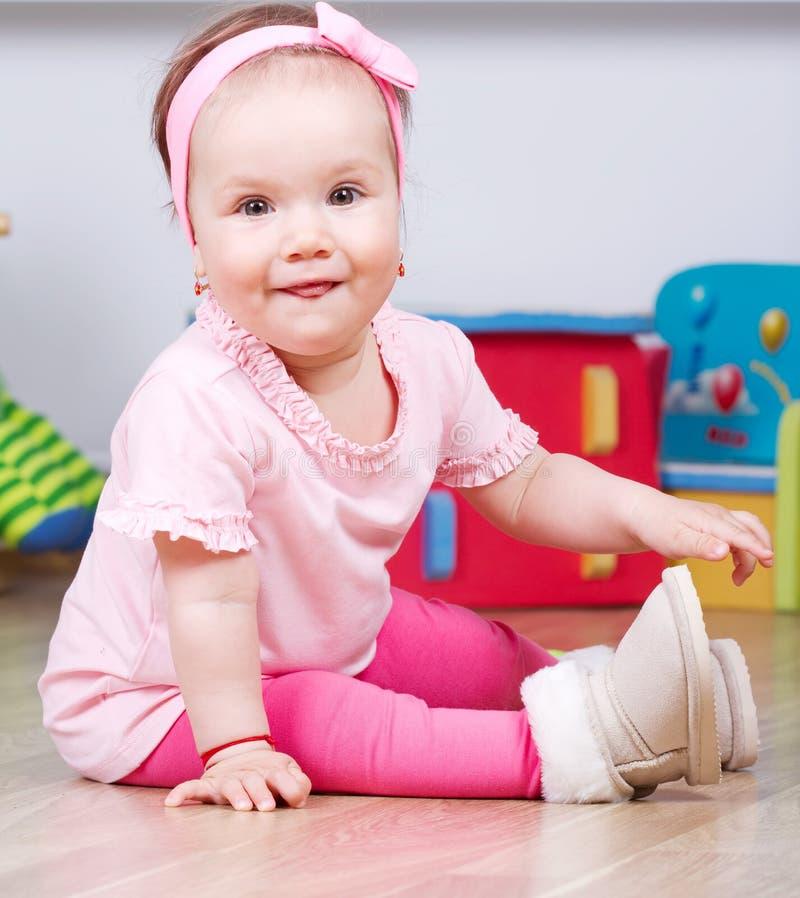 Blij babymeisje royalty-vrije stock afbeelding