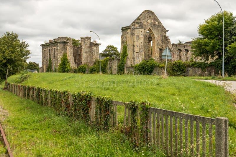 Blijft van Abbaye Notre-Dame du Voeu of Abdij van de Gelofte in Cherbourg Basse Normandie, Frankrijk royalty-vrije stock afbeeldingen