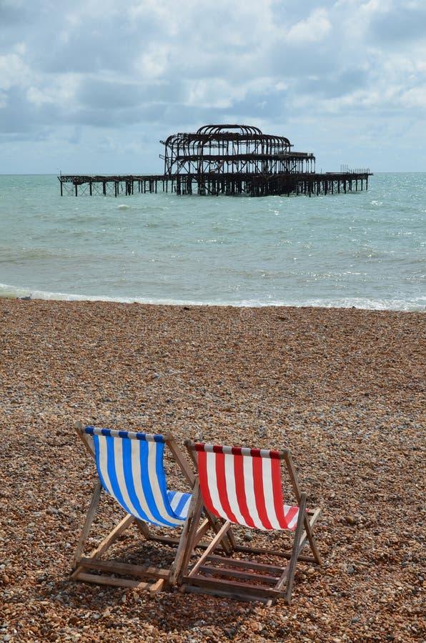 Blijft van de het Westenpijler in Brighton royalty-vrije stock fotografie