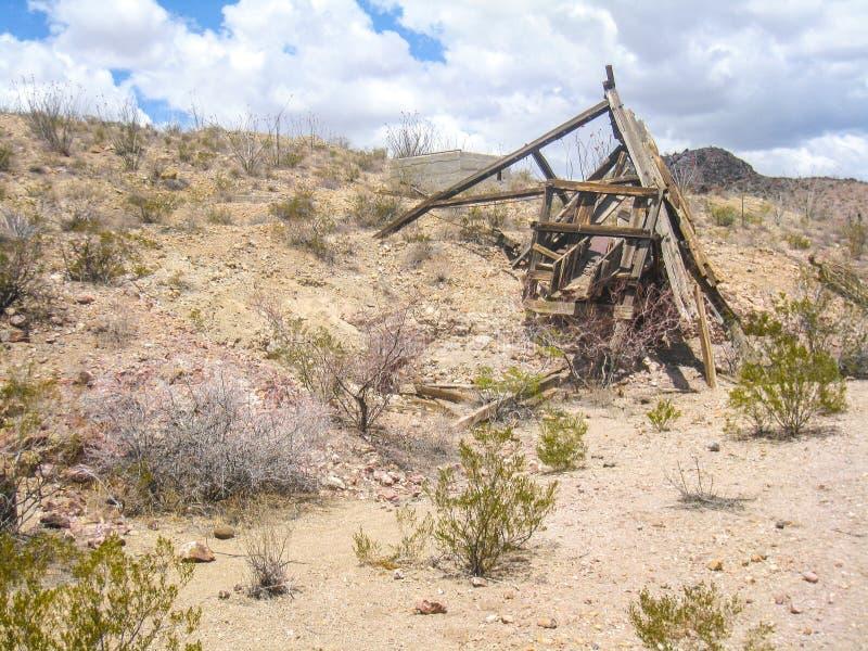 Blijft van Oude Mijn dichtbij Deming, New Mexico royalty-vrije stock afbeeldingen