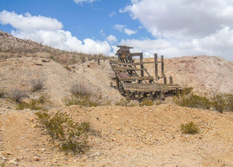Blijft van Oude Mijn dichtbij Deming, New Mexico stock foto