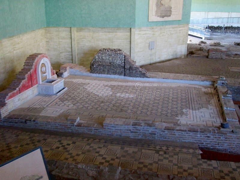Blijft van oude roman stad Sirmium, Sremska Mitrovica, Servië royalty-vrije stock foto's