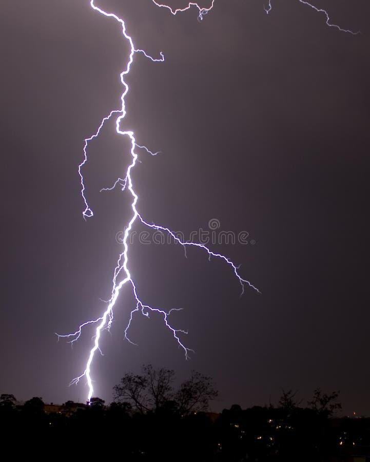 Bliksem een onweersbui, royalty-vrije stock foto's