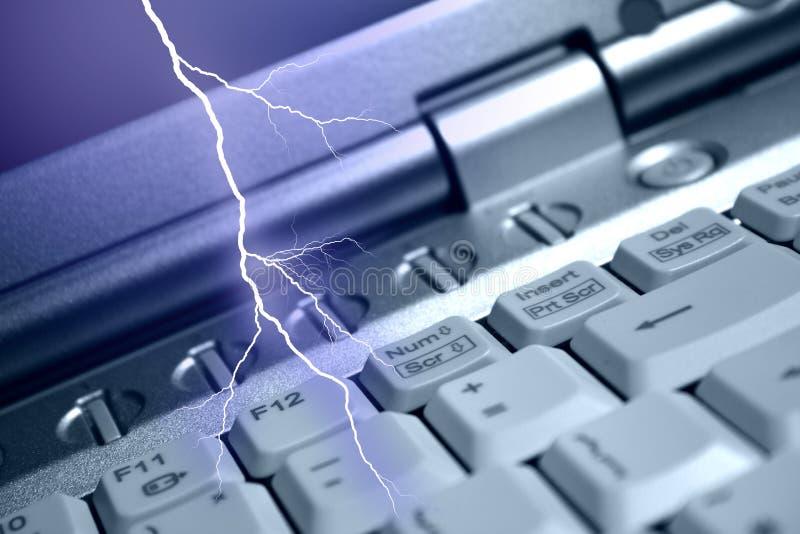 Bliksem en IT stock fotografie