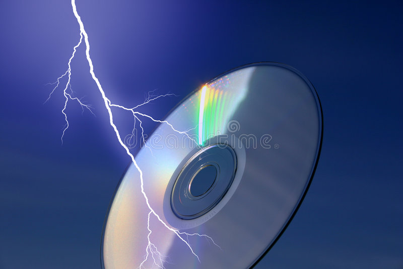 Bliksem en IT stock afbeelding