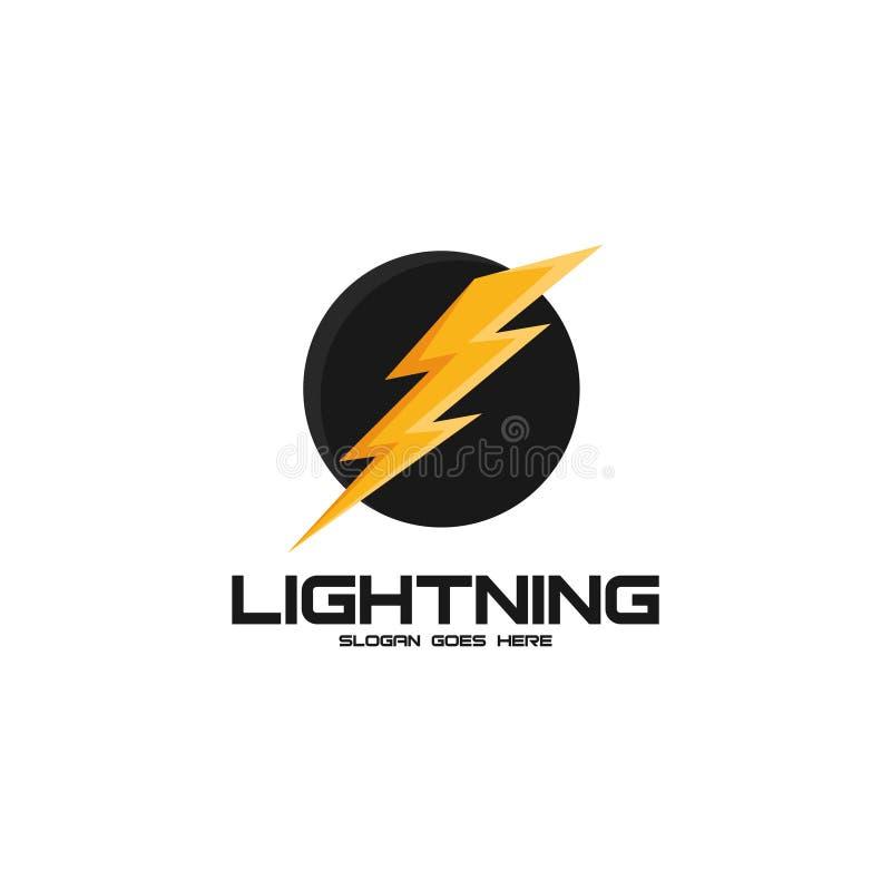 Bliksem Logo Vector Art stock illustratie