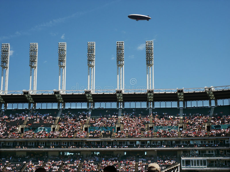 Download Blimp Over Stadium Royalty Free Stock Image - Image: 188636