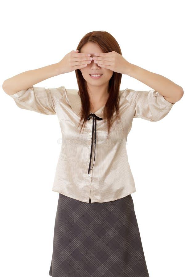 blind affärskvinna arkivfoto