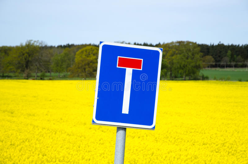 Blind alley roadsign royalty free stock images