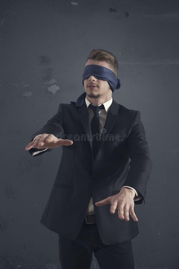 Blind businessman stock image