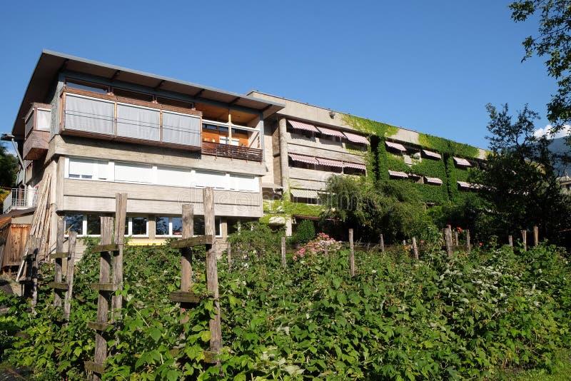 Blind Center Saint Raphael in Bolzano, Italy.  royalty free stock photography