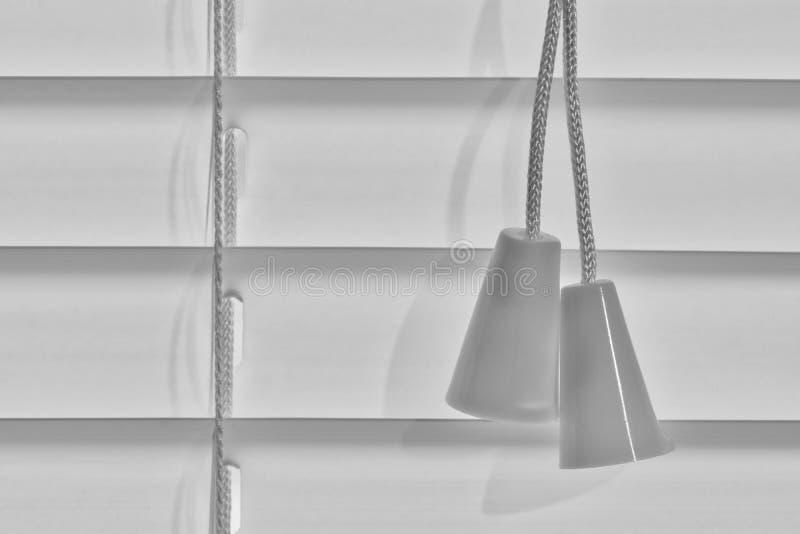 Blind cords through a macro lens. royalty free stock photo