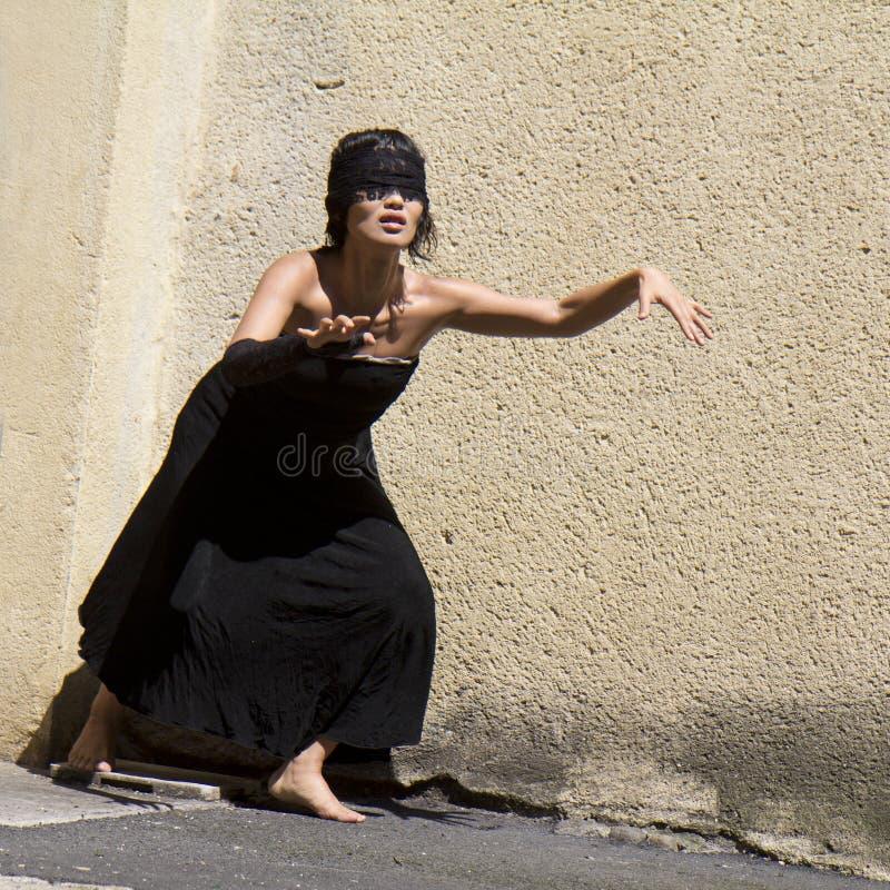 Blind dancer stock photography