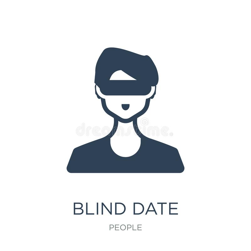 Blind date icon in trendy design style. blind date icon isolated on white background. blind date vector icon simple and modern. Flat symbol for web site, mobile stock illustration