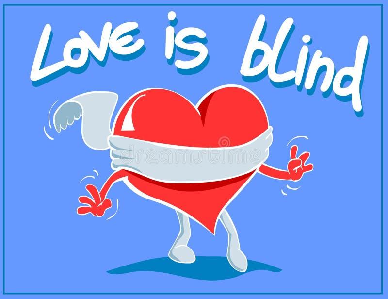 blind förälskelse royaltyfri illustrationer