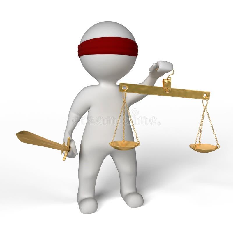 Download Blind justice stock illustration. Image of measurement - 14800448