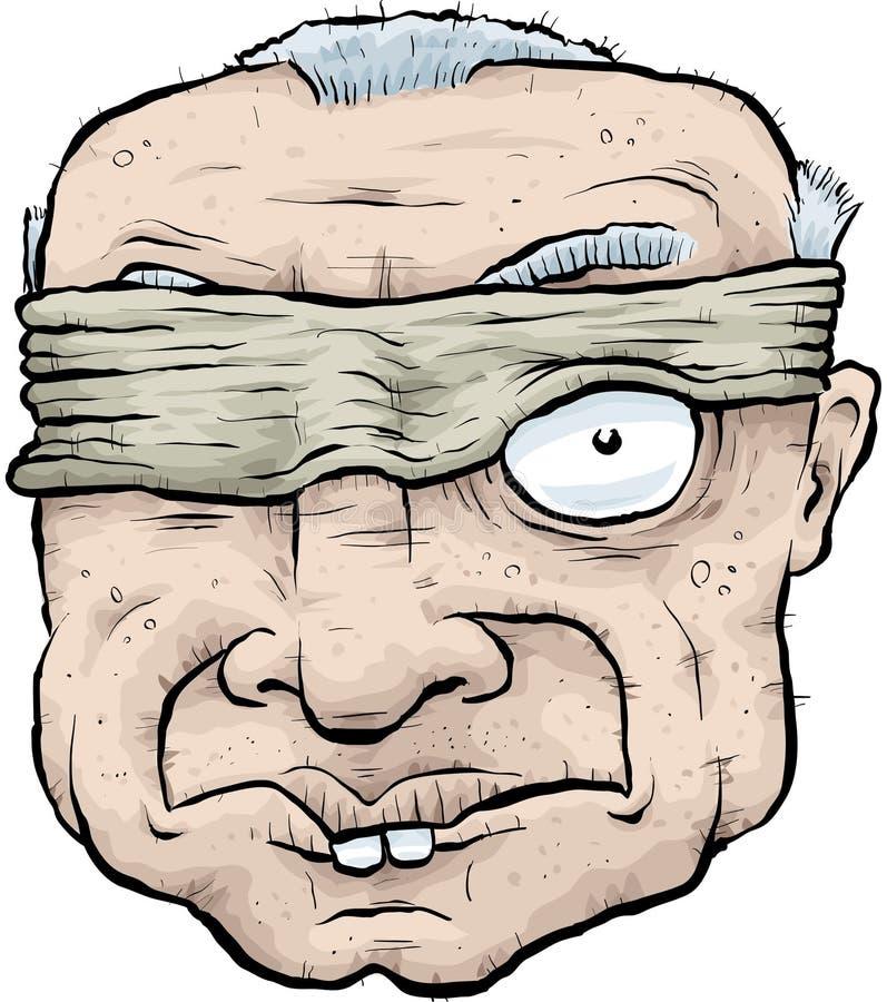 Blind- kika stock illustrationer