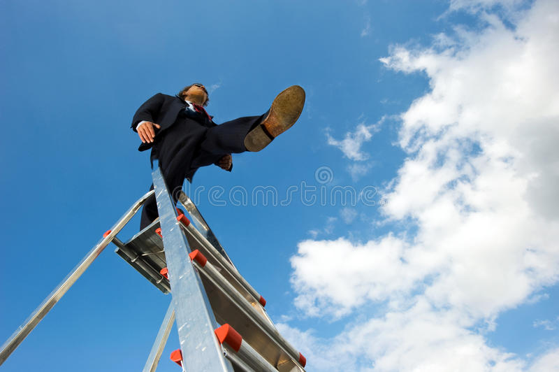 Blind leap stock photos