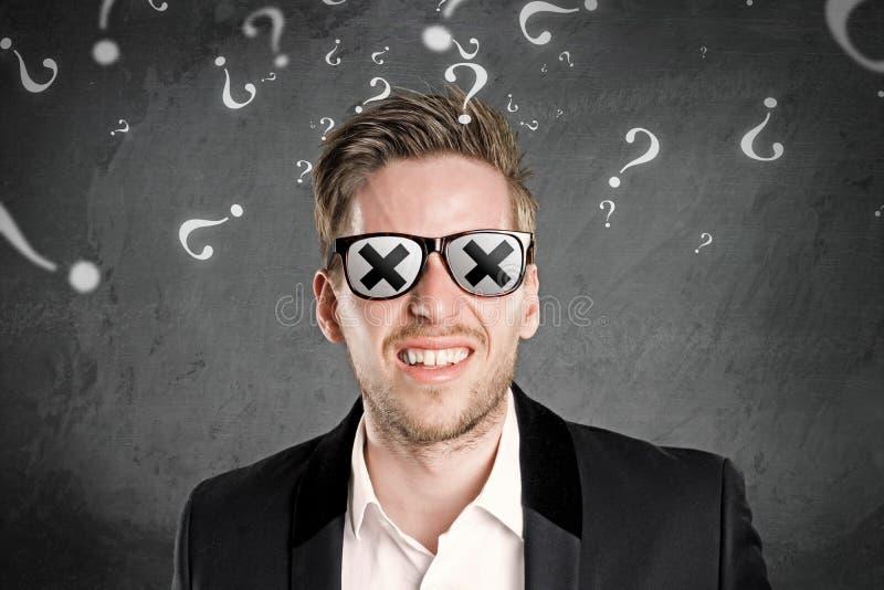 Blind man arkivfoton