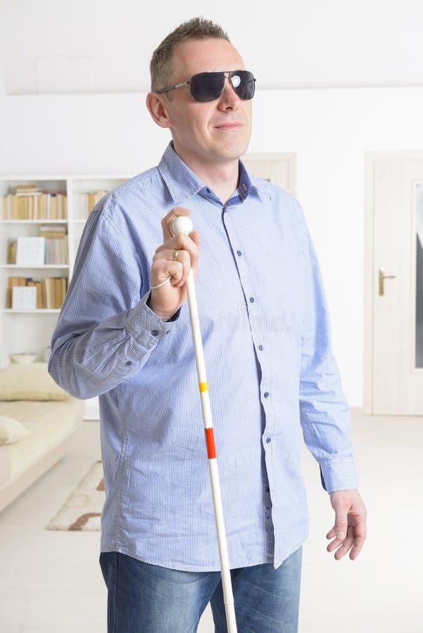 Blind man arkivbild