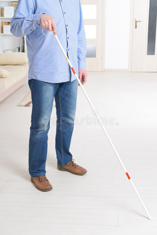 Blind man royaltyfria foton