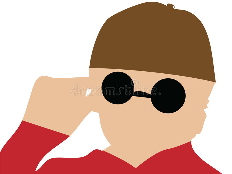Download Blind man stock vector. Image of blind, woman, little - 8227072