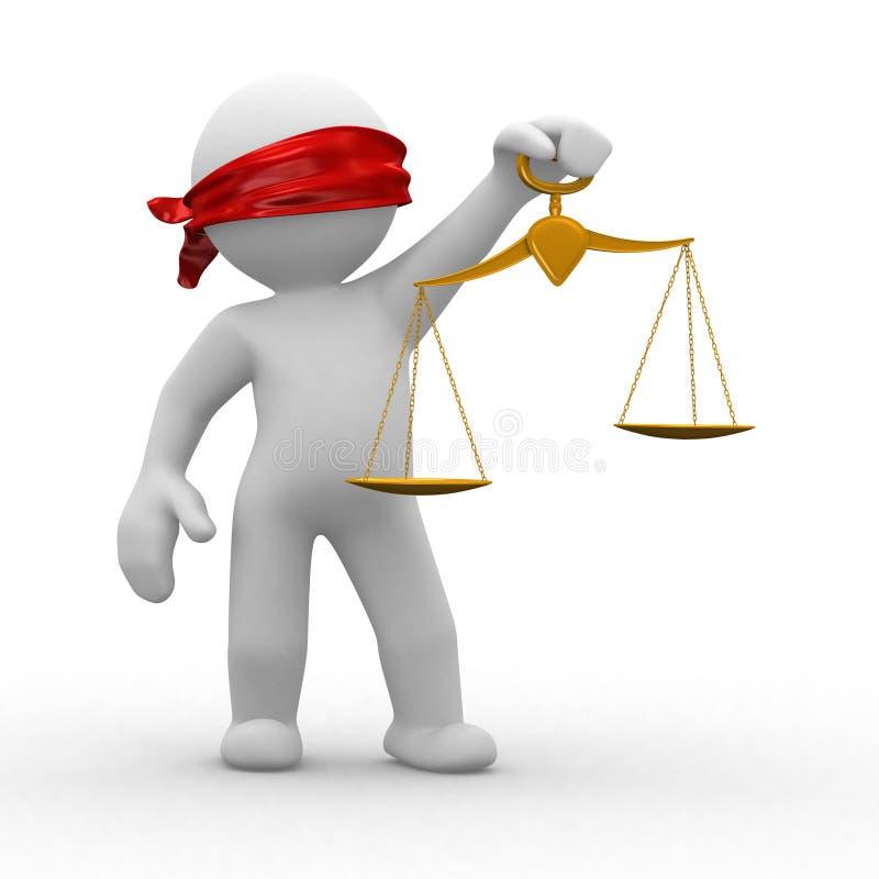 blind rättvisa stock illustrationer