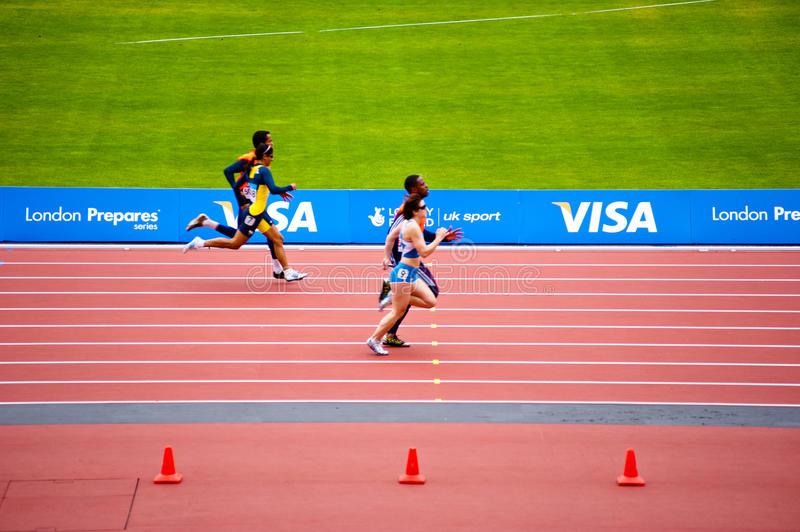 Download Blind runners editorial stock image. Image of healthy - 24697084