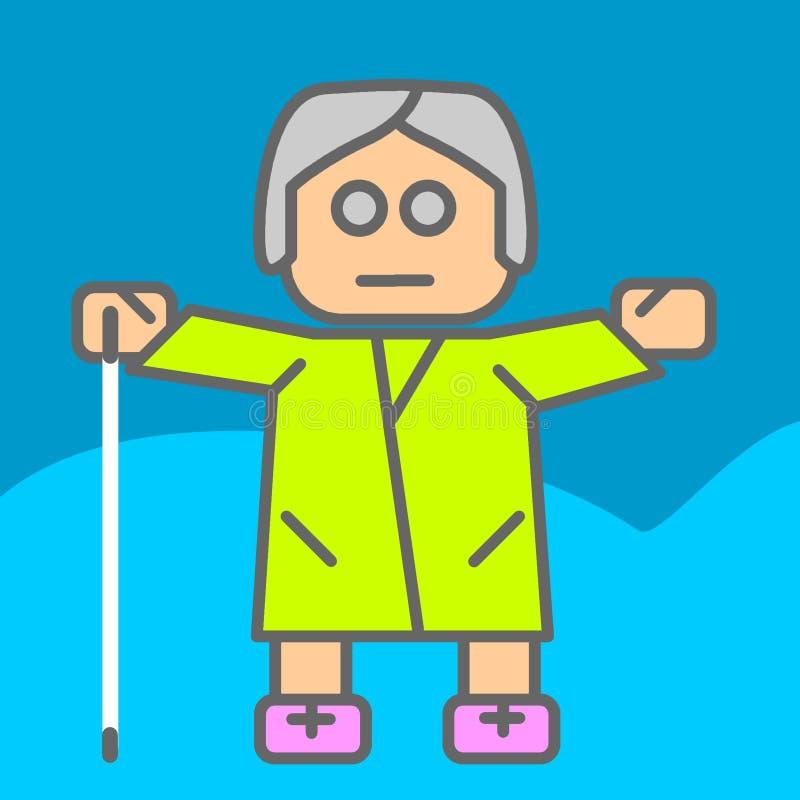 Blind woman royalty free illustration