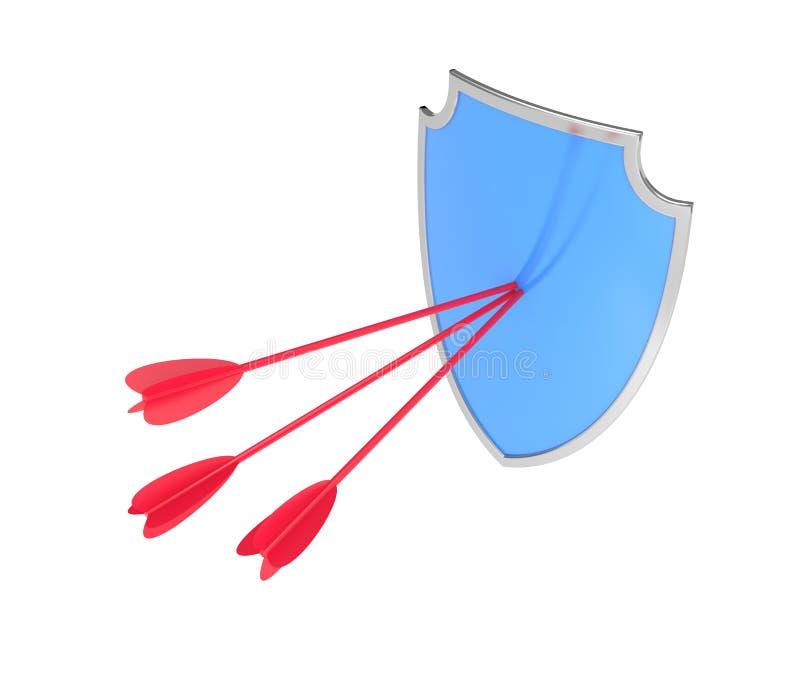 Blindaje con la flecha ilustración del vector