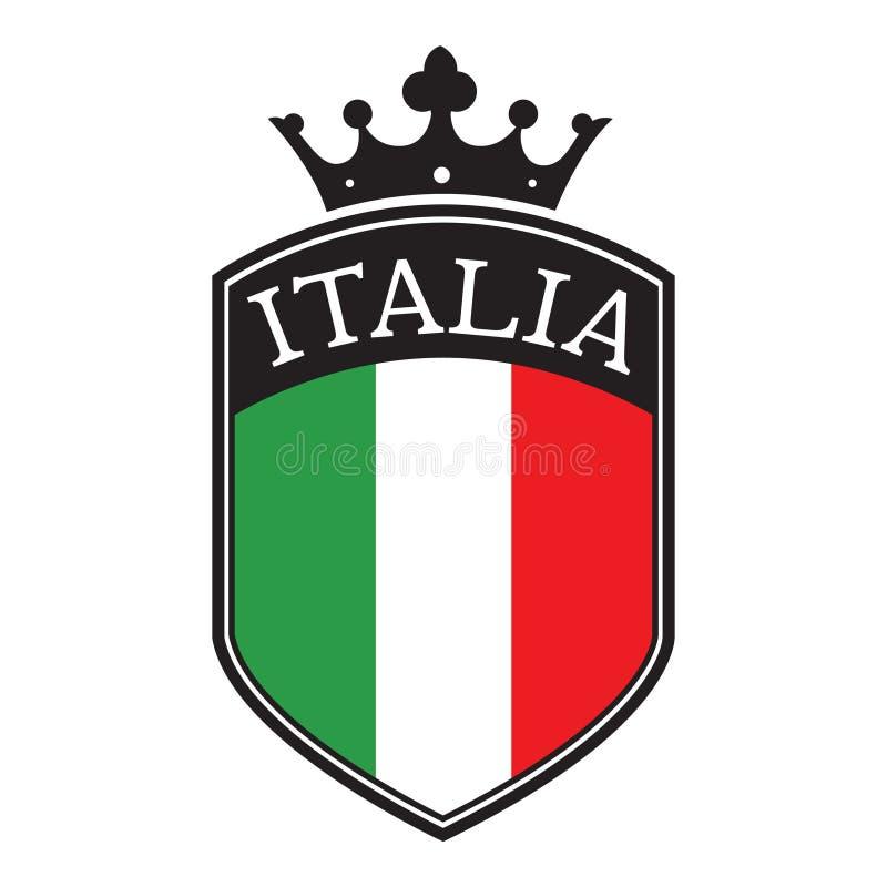 Blindaje de Italia ilustración del vector