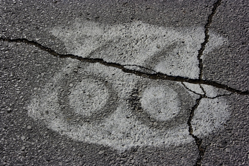 Blindaje de la ruta 66 en el asfalto imagen de archivo