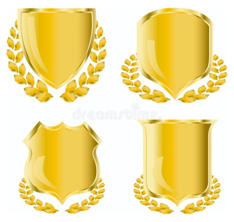 Blindaje de oro ilustración del vector