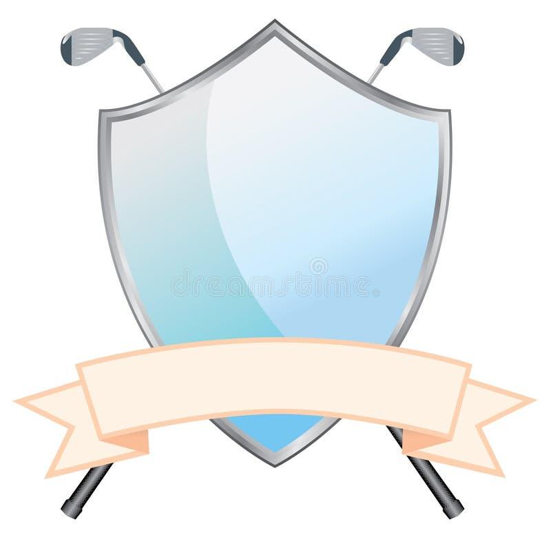 Blindaje del golf stock de ilustración