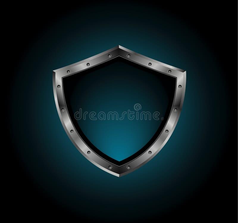 Blindaje del metal con los tornillos ilustración del vector