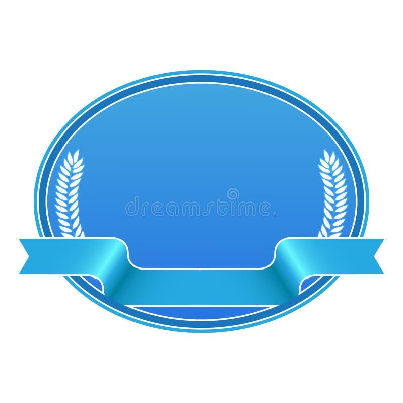 Blindaje en blanco azul de la escritura de la etiqueta stock de ilustración