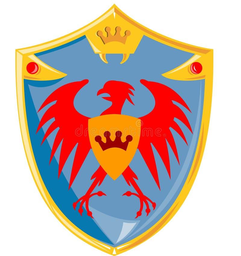 Blindaje medieval con el águila libre illustration