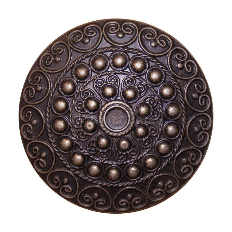 Blindaje ornamental del metal imagenes de archivo