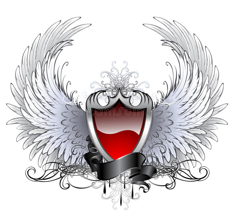 Blindaje rojo del ángel stock de ilustración