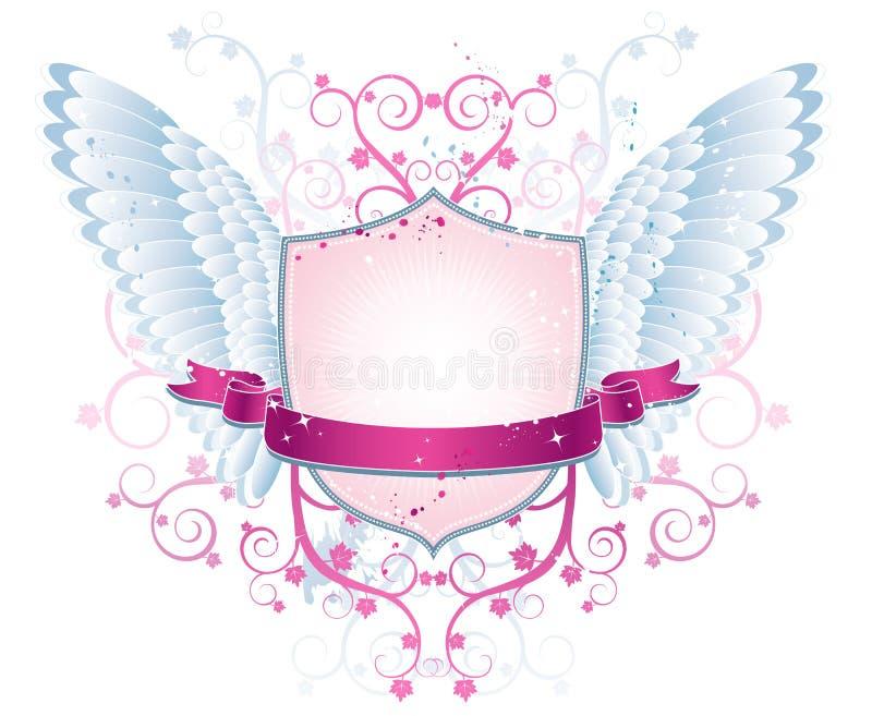 blindaje rosado, squiggle, vector ilustración del vector