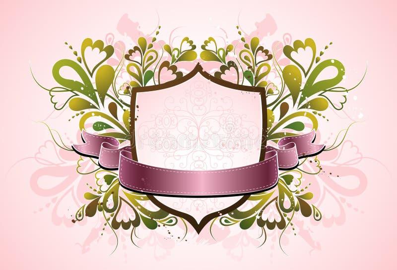 Blindaje rosado, vector ilustración del vector