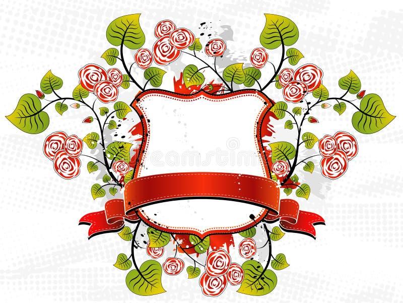 Blindaje y rosas blancos, vector ilustración del vector